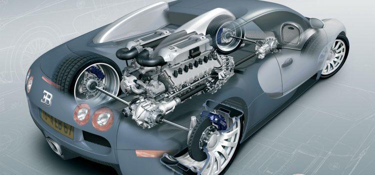 Moteur d'une Bugatti Veyron